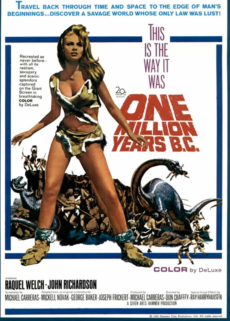 1960s Movie Posters | ONE MILLION YEARS BC - 1960s b movie posters wallpaper image