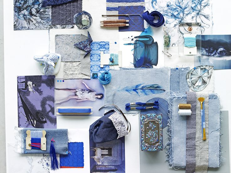 Piet Boon Styling by Karin Meyn | Collect material, fabric and make drawings in a colour you love; combine it and make a wonderful collage