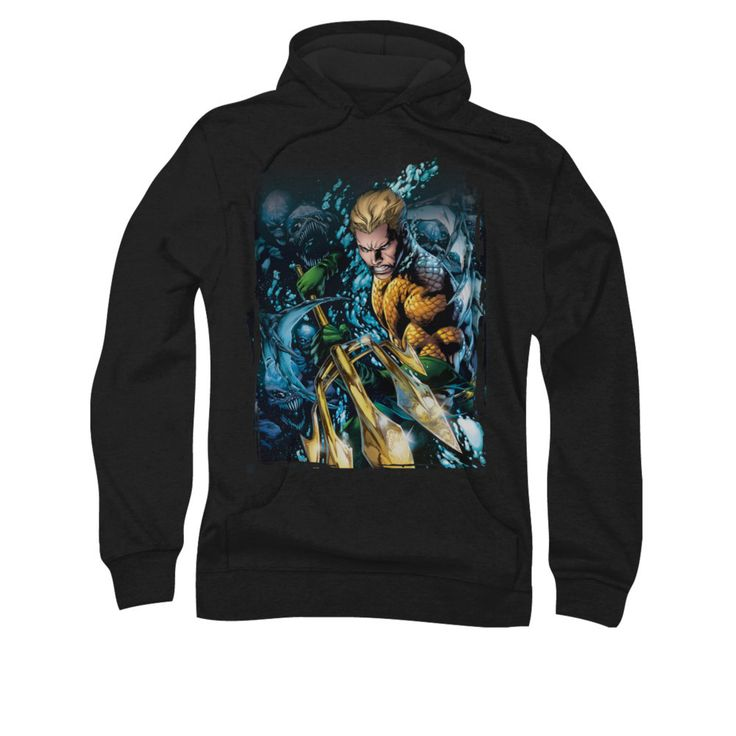 Aquaman New 52 Issue #1 Cover Mens Pullover Hoodie