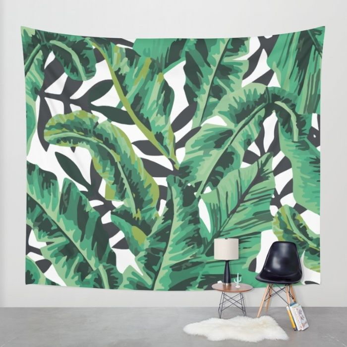 Buy Tropical Glam Banana Leaf Print Wall Tapestry by Nikki. Worldwide shipping available at Society6.com. Just one of millions of high quality products available.