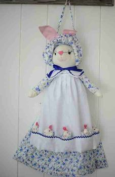New Blue Floral Rabbit
