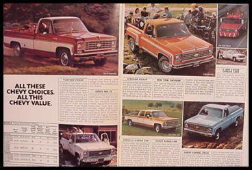 1976 Chevy Chevrolet Pickup Truck Brochure MINT ORIG!   eBay