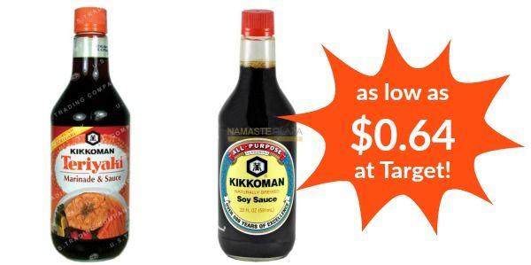 Target: Kikkoman Soy Sauce or Teriyaki Sauce as low as $0.64!