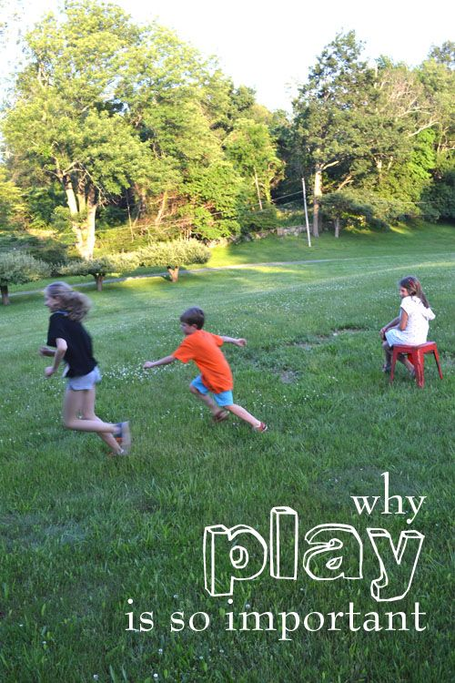 Let them play! Children develop basic developmental building blocks necessary for later academic success BETTER through play than in a traditional classroom.