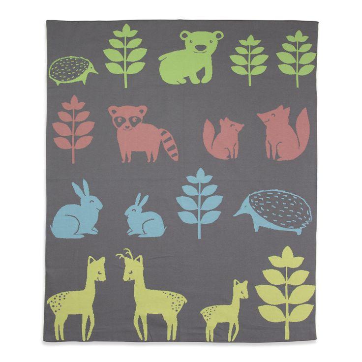 Bassinet Knitted Blanket - Forest Friends