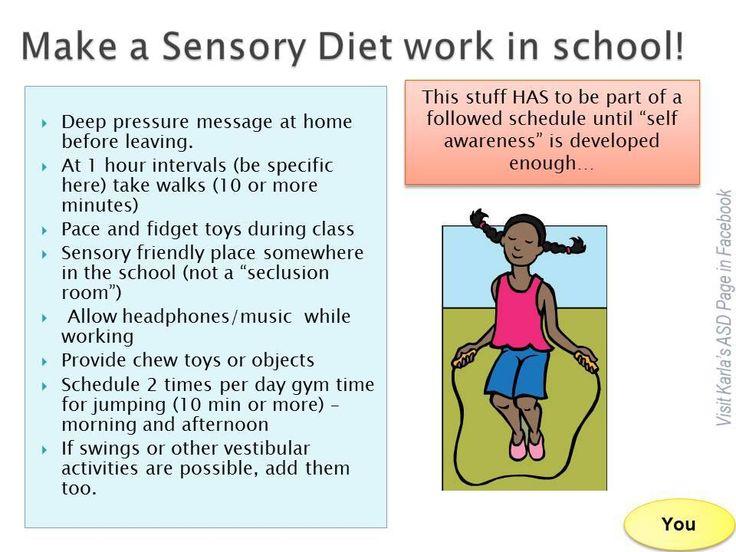 asd sensory diet activities coverinter. Black Bedroom Furniture Sets. Home Design Ideas