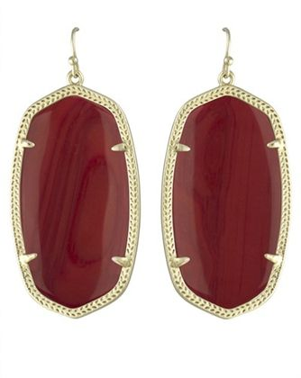 Kendra Scott Danielle Earrings in Maroon | Dark Red Burgundy | Texas A&M University Game Day Earrings | www.sabiboutique.com