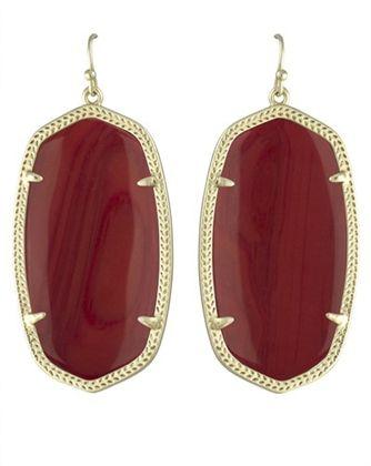 Kendra Scott Danielle Earrings in Maroon | Dark Red Burgundy | Texas A&M University Game Day Earrings | www.sabiboutique.com