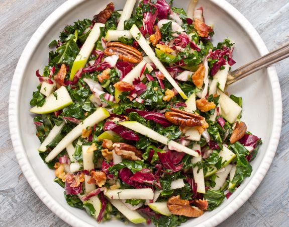 Kale Apple Pancetta Salad /  Once upon a Chef: Kale Recipes, Kale Apple, Salad Recipe, Apples, Kale Salad, Healthy Food, Salads