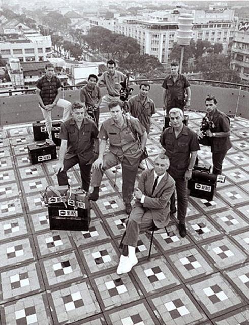 PETER JENNINGS NEWS CREW Saigon VIETNAM '67 ABC TV by manhhai, via Flickr