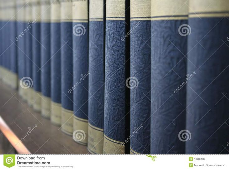 Some cyclopaedias on a shelf