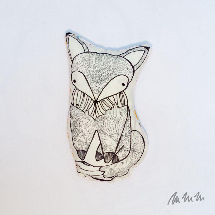 Ručně kreslený polštářek na přání Fler Mmmoje
