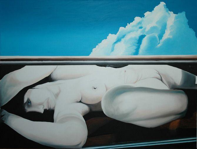 Under the cloud /Felhő alatt, 120x160, oil on canvas/olaj, vászon 2012 #art