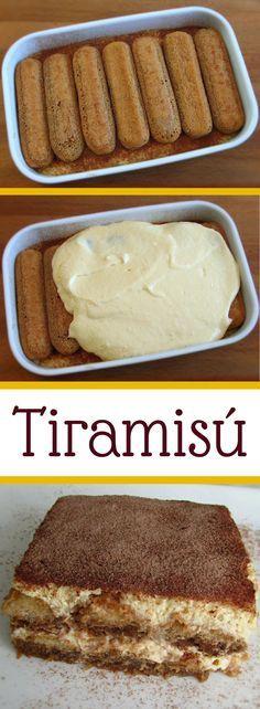 Tiramisú   Food From Portugal. Nada como um tiramisú para dar um toque de requinte ao seu jantar… Atreva-se! É uma delícia… #doce #tiramisú