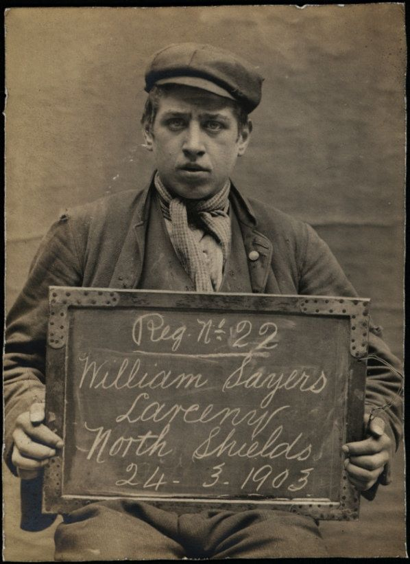 "https://flic.kr/p/qXBYXJ | William Sayers | Name: William Sayers Arrested for: Larceny Arrested at: North Shields Police Station Arrested on: 24 March 1903 Tyne and Wear Archives ref: DX1388-1-15-William Sayers  The Shields Daily Gazette for 24 March 1903 reports:  ""John Brown and Wm Sayers, labourers, East Howdon were charged at North Shields today with stealing on the 15th a brass tap and an oil barrel, valued 8s 6d, the property of Wm Easten at East Howdon. James Speedy, a carpenter ..."