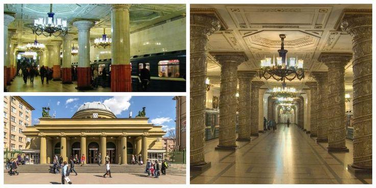 La stazione di Avtovo a #SanPietroburgo ...praticamente un museo!