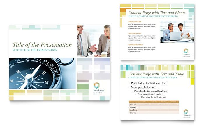 Business Solutions Consultant PowerPoint Presentation Design Template by StockLayouts