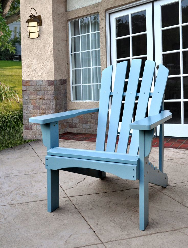 Rockport Dutch Blue Cedarwood Adirondack Outdoor Chair