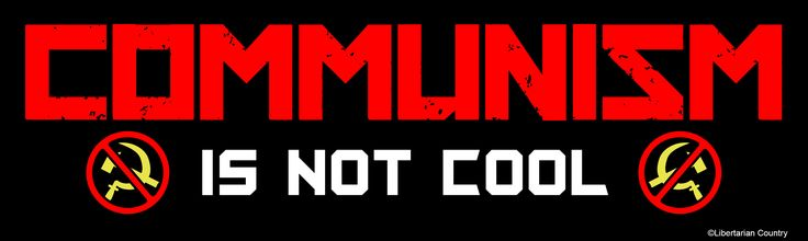Communism is Not Cool Bumper Sticker