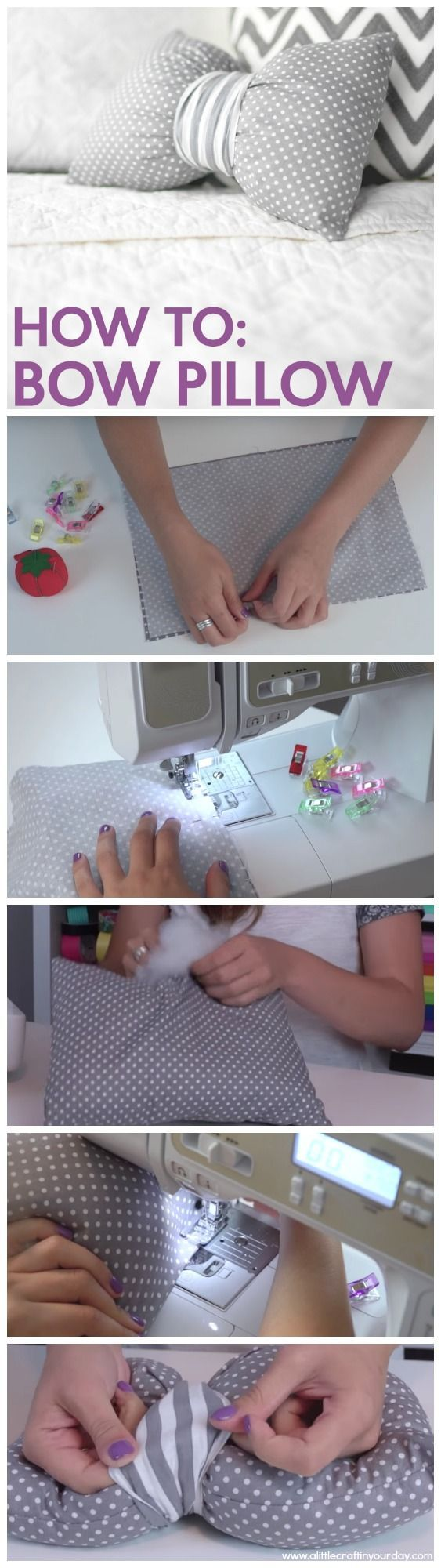 How to Sew a DIY Bow Pillow                                                                                                                                                                                 More