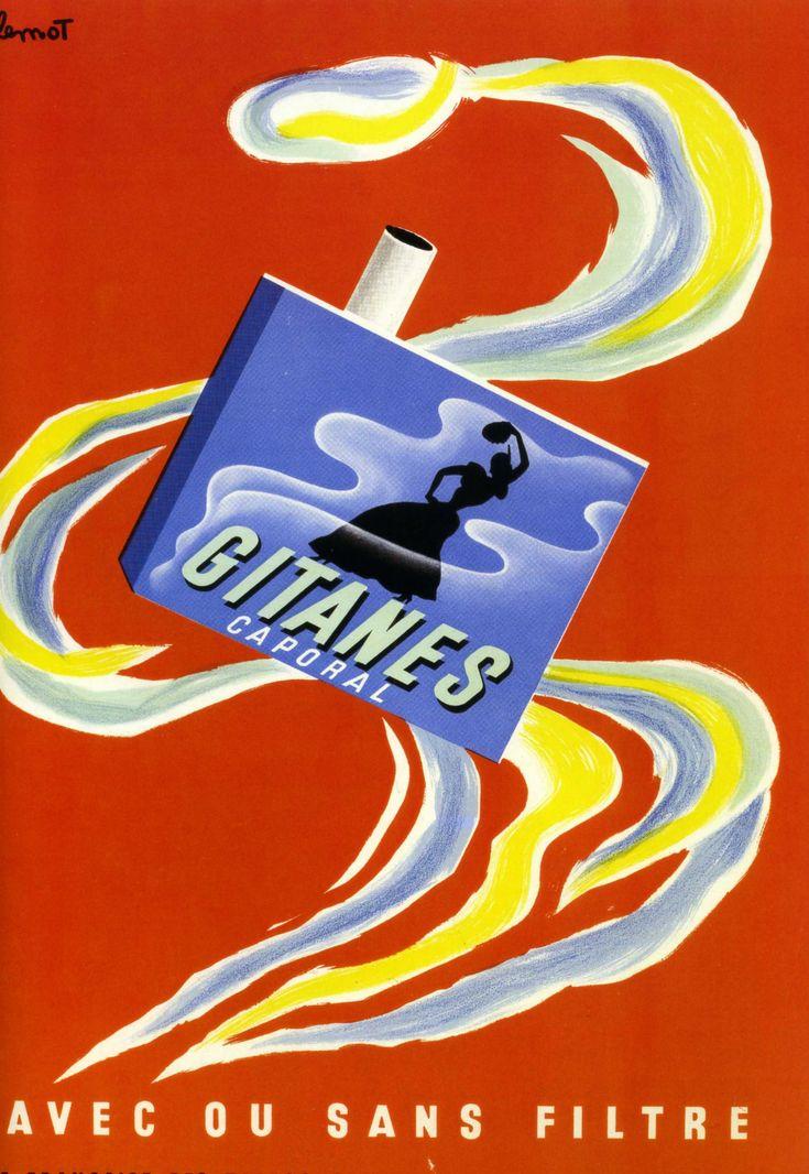 Affiche Ancienne Pub Gitanes Caporal...
