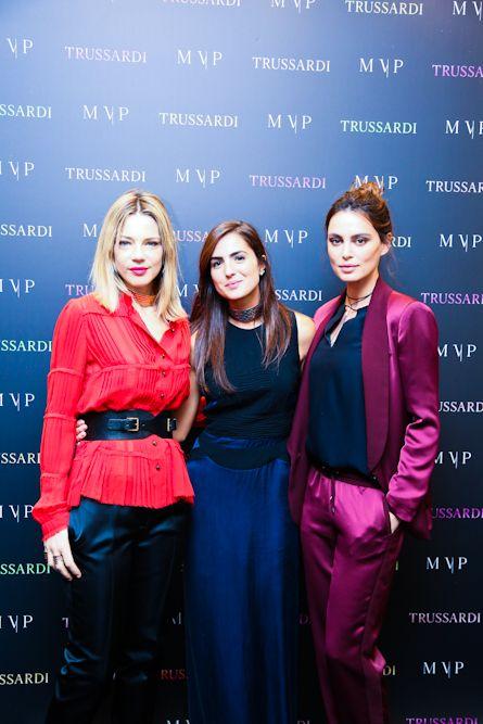 Gaia trussardi, Maria Vittoria Paolillo and Catrinel Marlon at the #MVPforTrussardi event in Rome. #MVPCreations #Trussardi