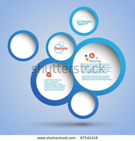 Abstract web design bubble, vector by atribut, via ShutterStock
