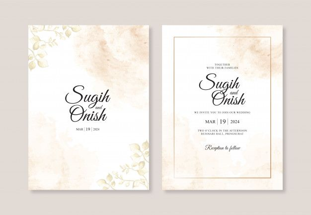 Splash Of Watercolors And Leaf Paintings For Wedding Invitation Templates Wedding Invitation Templates Invitation Template Wedding Invitations