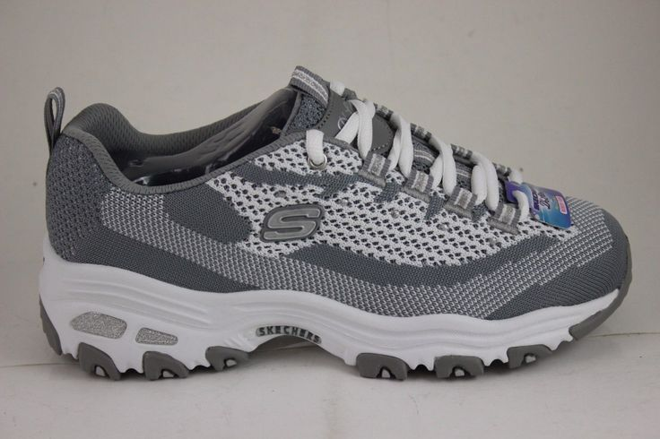 Skechers D'Lites Reinvention Gray/White 11955/Gyw Air Cooled Memory Foam