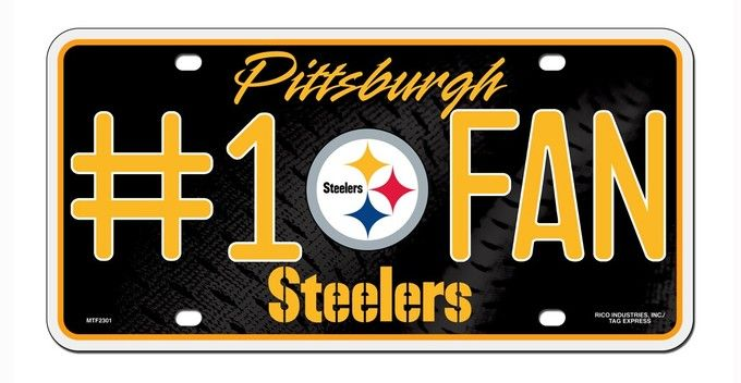 Pittsburgh Steelers License Plate - #1 Fan