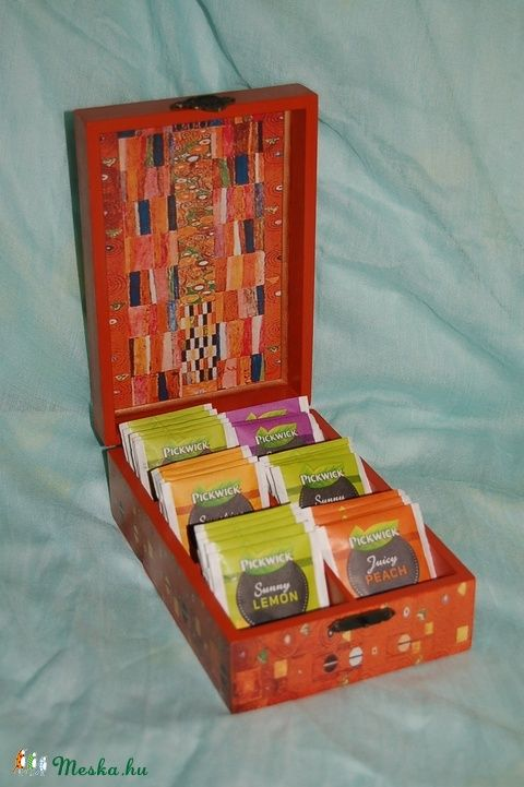 Teás doboz Klimt képével (Pearlbox) - Meska.hu