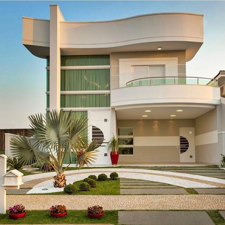 Residência Sensacional Por Arquiles Nicolas @decorcriative · Modern  HousesModern House PlansDesign HomesHouse DesignMy ...