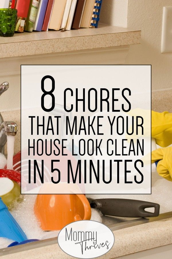 5 Minute Cs That Make Your House Look Cleaner Cleaning