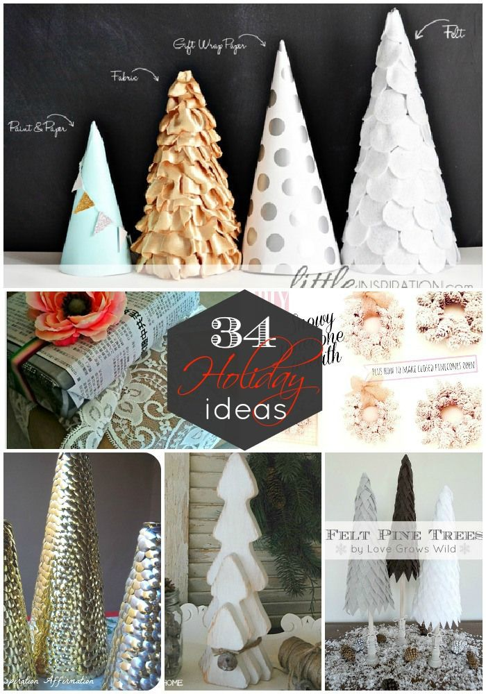 34 BEAUTIFUL Holiday Projects to make! So many great ideas!! -- Tatertots and Jello #DIY