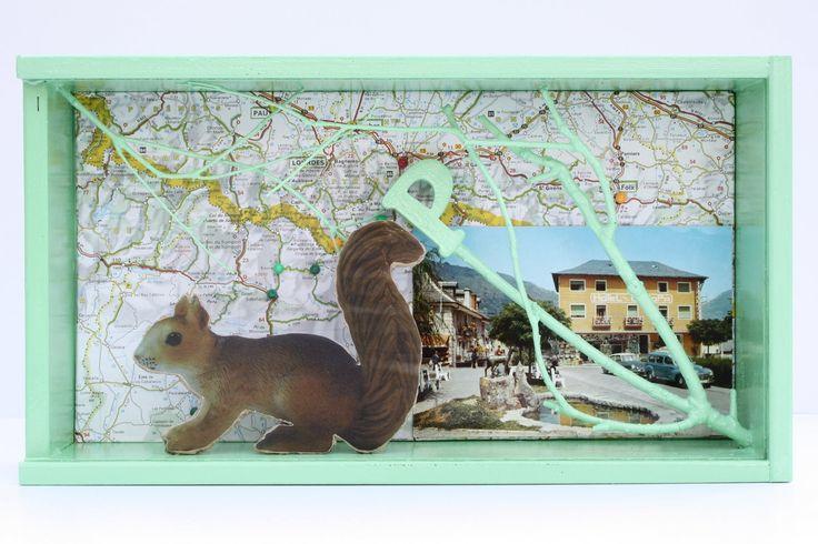 Hotel Europa (II). Díptic. Collage i assemblage. Caixes de 18 x 33 x 12 cm.