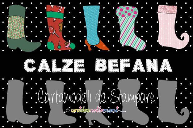 Calze Befana fai da te- pattern  DIY stockings