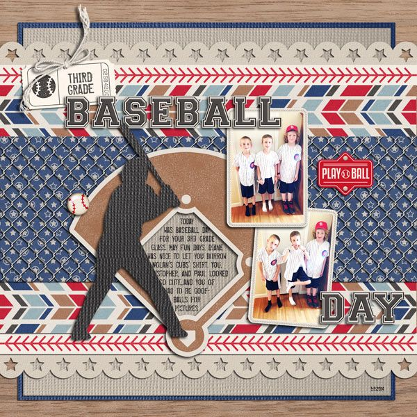 Play Ball Kit  from peppermintcreative.com | page by @keela  #baseball #softball #sports #tball