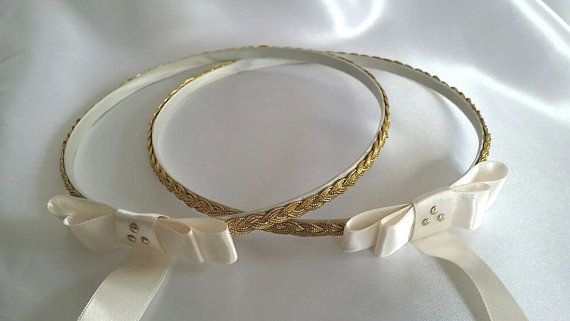 Check out this item in my Etsy shop https://www.etsy.com/listing/223279262/handmade-orthodox-wedding-crowns-tiaras
