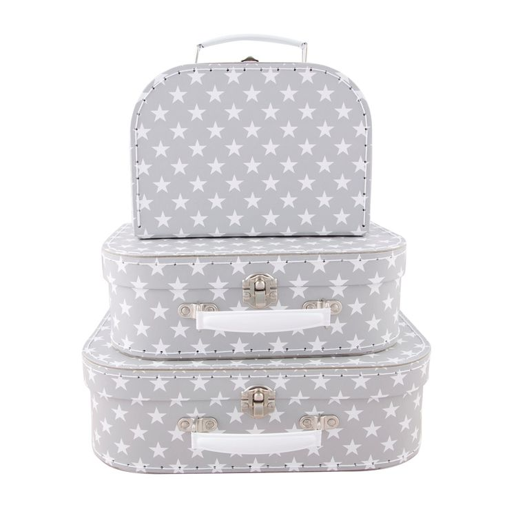 Sass and Belle children's suitcases. https://www.minimaud.com/product-page/set-of-3-nordic-star-suitcases