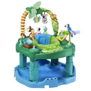 Exersaucer - This is the only huge piece of plastic that I want to recommend. All of my kids were in love with their exersaucers.