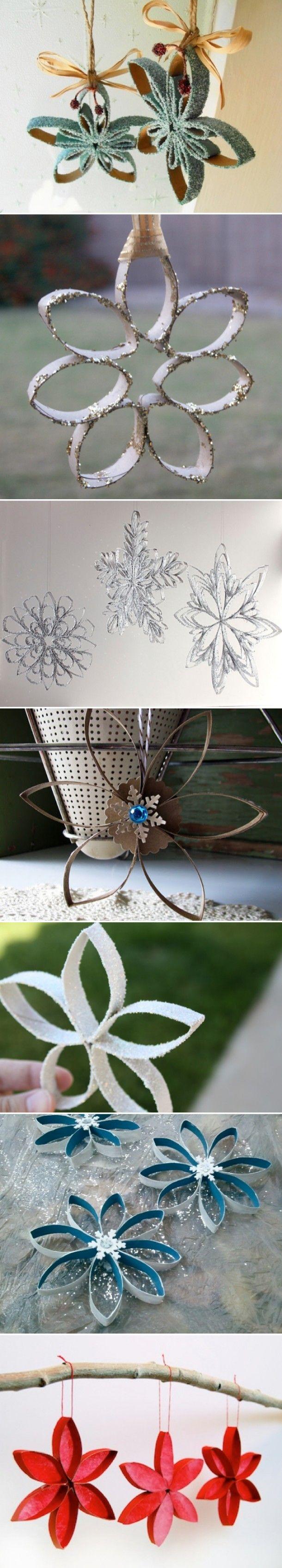 reepjes knippen van wc-rolletjes, op doorschijnend gekleurd papier plakken en in het midden een lampje van een kerstlichtjessnoer - het geheel kun je op een mooie plank bevestigen, zodat je een mooie plank-lamp hebt om waar dan ook te hangen. Door marjon205