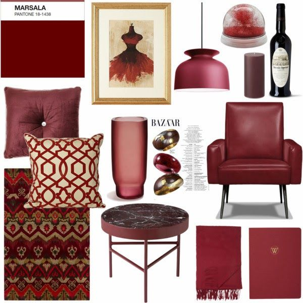 Whitewings Home Decoration: MARSALA PANTONE, COLOR OF THE YEAR 2015.