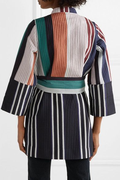 23703398acf3 Blend Net Apart Apiece Silk And Jacket A Quilted Cotton Boro Colorblock  Swqw06