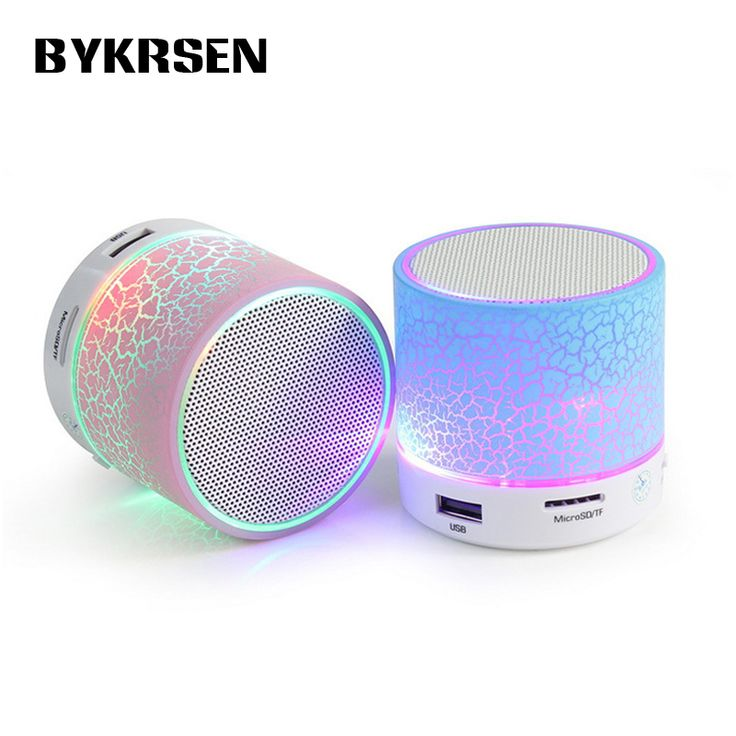 Mini Portable LED Bluetooth Speaker Wireless Small Music Audio TF USB FM Light Stereo Sound Speaker For Phone Xiaomi with Mic