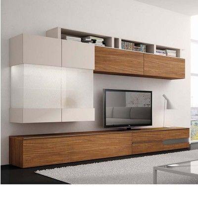 exclu atyliacom meuble moderne de salon modle babel couleurs blanc - Meubles Modernes Bois