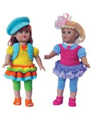 crochet skirts and leggings for dolls