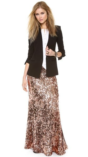Free People Sequins for Miles Maxi Skirt~frothy and serious....perfect