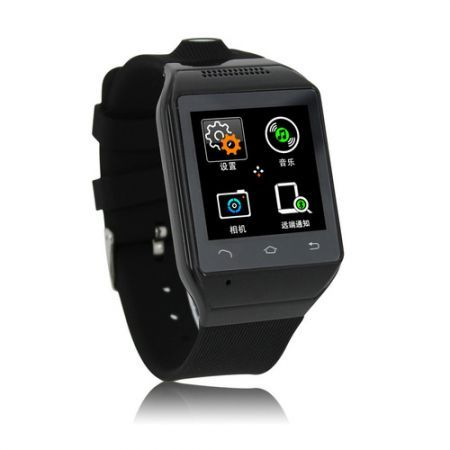 "S19 Bluetooth Smart Watch Phone 1.54"" Touch Screen GSM Support SIM TF Camera Smartwatch for Android Cell Phone Sync  - Black"