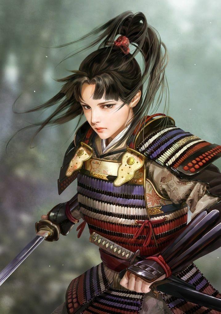 Thzin La Dragon Aguerrida Female Samurai Female Samurai Art Fantasy Samurai
