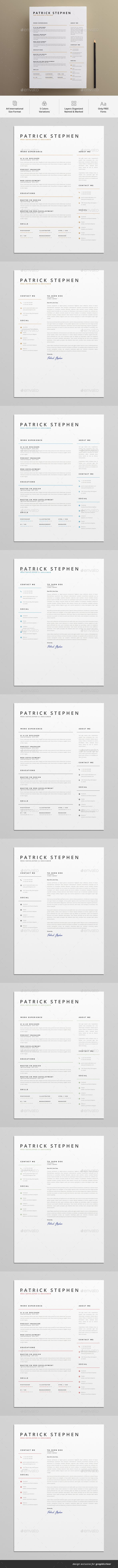 #Resume - Resumes #Stationery Download here: https://graphicriver.net/item/resume/19224274?ref=alena994